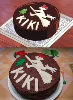 Kiki's delivery service cake! Must try and make! Adding to: Studio Ghibli Party list~