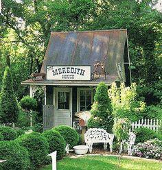 Backyard Sheds, Shed Landscaping, Outdoor Sheds, Outdoor Rooms, Outdoor Decor, Diy Shed, Diy Storage Shed, Wood Storage Sheds, Tool Storage
