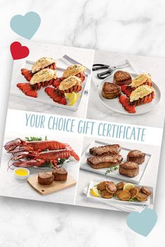 Your Choice Gift Certificates are the perfect way to treat mom this Mother's Day. You choose the amount of the certificate, she chooses the package, and it gets delivered directly to her front door. Lobster Gram, Lobster Pot Pies, Live Lobster, Lobster Dinner, Shrimp Cocktail Sauce, Maryland Style Crab Cakes, Alaskan King Crab, Filet Mignon Steak, Frozen Lobster