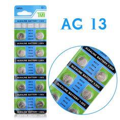 Горячий продавать Для Часов Плата 10 Шт. LR44 AG13 357A S76E G13 Кнопка Монет Батареи Сотового Батареи 1.55 В Щелочной 51% off купить на AliExpress