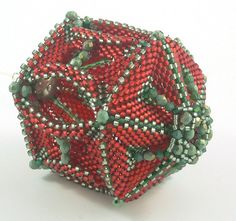 *P Christmas in July beaded Christmas ornament by daxbeadartpatterns