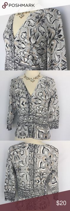 "White House Black Market floral sequin cardigan Gently used White House Black Market floral sequin cardigan size small in excellent condition- no stains or holes. Approximate length 22"", sleeve length 16"" White House Black Market Sweaters Cardigans"