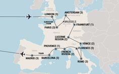 Grand Tour of Europe - 30 Day European Tour   EF College Break