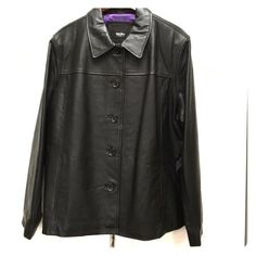 Mossimo leather jacket Sz XL NWT, lambskin New with tags mossimo lambskin leather jacket size extra large, new with tags. Purple polyester lining. Button down, 2 front pockets. 🚫no trades please ✅reasonable offers considered 👍😃 Mossimo Supply Co Jackets & Coats