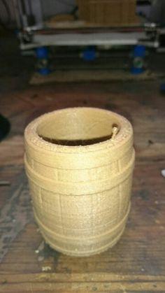 Barrel with wood filament