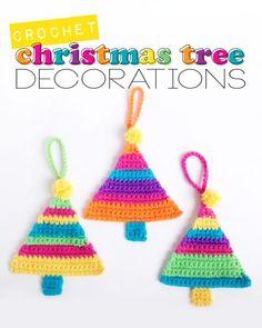 Crochet Christmas Tree Decorations by Poppy & Bliss