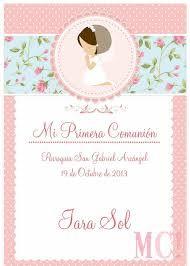 Resultado de imagen para tarjetas de comunion nena