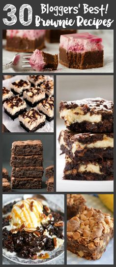 These are some of bloggers' very best brownie recipes, and I'm SURE there is something for everyone. Whether you are looking for a brownie that is frosted, healthy, peanut buttery, minty, fruity, or anything in between, you will find what you are looking for in this list.