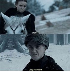 Are you searching for ideas for got facts?Check out the post right here for very best Game of Thrones memes. These positive memes will make you enjoy. Arya Stark, Eddard Stark, Jon Snow, Khal Drogo, Lady Mormont, Game Of Thrones Meme, Got Memes, Fandom Crossover, The Worst Witch