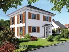 ProStyle 96 • Mediterranes Haus von ProHaus • Repräsentative Stadtvilla für kleine Grundstücke mit modernem Zeltdach • Jetzt bei Musterhaus.net informieren!