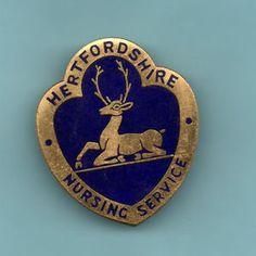 HERTFORDSHIRE-NURSING-SERVICE-GILT-ENAMEL-BADGE