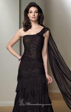 A-Line Lace Gown by Mon Cheri Montage Boutique 212980