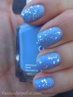 Essie matte glitter nails