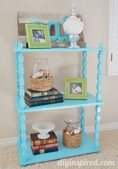 Best of DIY Inspired 2013- Upcycled $5 thrift store shelf