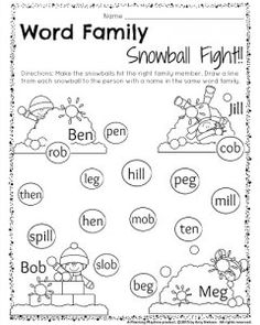 match the words  ab family  handwriting worksheets kindergarten  &