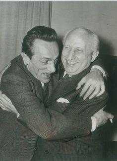 Eduardo De Filippo  e Gilberto Torraca, Direttore del Teatro Eliseo | © Teatro Eliseo