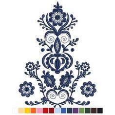 Polish Embroidery, Hungarian Embroidery, Folk Embroidery, Embroidery Fashion, Ribbon Embroidery, Embroidery Patterns, Swedish Tattoo, Hungarian Tattoo, Polish Folk Art