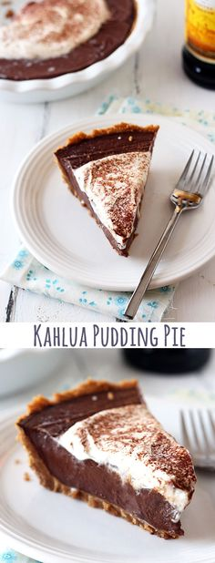 Kahlua Pudding Pie - Handle the Heat  Oh my!  I am going to have to try this one for sure!!