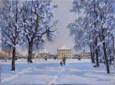 Stanislav Fomenok - Winter in Nymphenburger Park in München