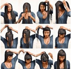 Senegalese twists #boxbraids hairstyle #pictorial #updo