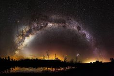 This is a 53 shot, 500MP image I took recently of the Milky Way over Harvey Dam in Western Australia. - Imgur