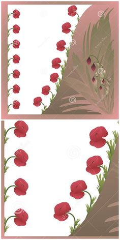 Illustration about Colorful card with poppy flowers and leafs. Illustration of frame, feminine, beautiful - 52249197 Mothersday Cards, Poppy Flowers, Color Card, Poppies, Valentines Day, Colorful, Frame, Illustration, Holiday