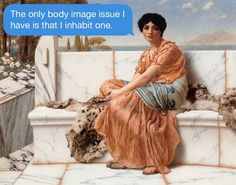 Existentialist Text Messages Juxtaposed on Paintings –   Texts From Your Existentialist is an initiative of April Eileen Henry.