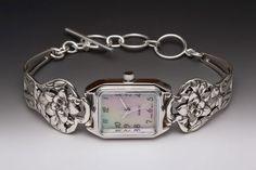 vintage silver spoon watch antique silverware handles