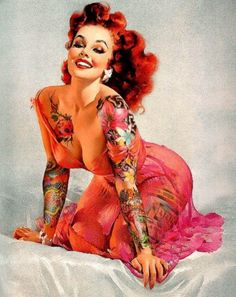 pin up girl tattoo for hubby! (: just more like me<3