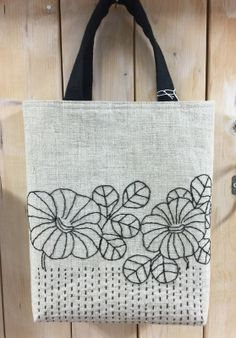 Linen heart tote bag with appliqué, Sashiko Hand embroidered tote, Valentine tote bag, mother's day - Hand Embroidery Videos, Embroidery Bags, Japanese Embroidery, Hand Embroidery Stitches, Hand Embroidery Designs, Shashiko Embroidery, Diy Tote Bag, Hand Applique, Jute Bags