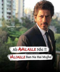 Hindi Attitude Quotes, Attitude Thoughts, Attitude Quotes For Boys, Hindi Quotes, Girl Attitude, Attitude Status, Deep Thoughts, Qoutes, Swag Quotes