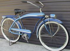 1941 Firestone Super Cruiser (Colson Bullnose) - This bike is all original and un-restored. This bike was offered in this configuration only in 1941 by Firestone stores. It was manufactured by the Colson Velo Beach Cruiser, Cruiser Bicycle, Motorized Bicycle, Velo Vintage, Vintage Cycles, Vintage Bikes, Retro Bikes, Old Bicycle, Old Bikes