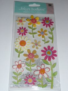 RETRO DAISY FLOWERS  -beautiful little girls, NEW BABY Summer, Spring, Nature themed Scrapbooking layout ideas!! Jolee's Boutique by ExpressionsofFaith.etsy.com & Facebook.com/ExpressionsofFaith