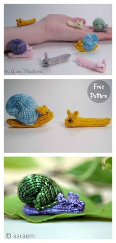 Snails and Slugs Free Knitting Pattern