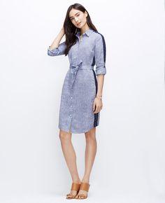 Lacy Linen Shirtdress | Ann Taylor
