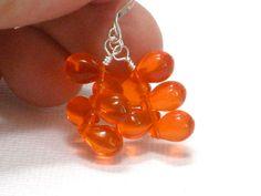 Tangerine Earrings Orange Mango Teardrops Sterling by CCARIA, $15.00