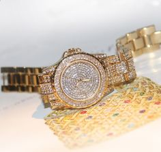 2016 Collectie Beroemde Merk Bling Horloge Vrouwen Luxe Oostenrijkse Kristal Horloge Rose Gold Shining Diomand Rhinestone Bangle Armband Michael Kors Watch, Bling Bling, Bracelet Watch, Watches, Bracelets, Accessories, Fashion, Lush, Wristlets