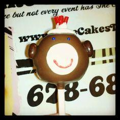 Sock Monkey Cake pop - The Cake's Truffle