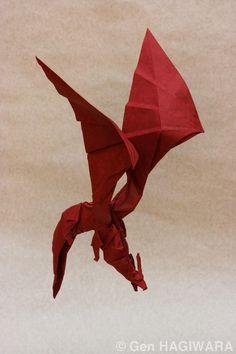 Origami Dragon by GEN-H.deviantart.com on @DeviantArt