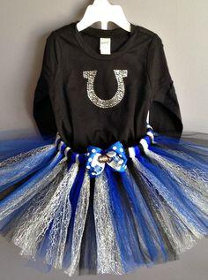 Colts blue and white Horseshoe Tutu Outfit on Etsy