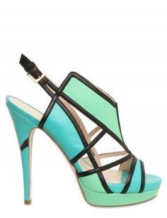 These just beg to be worn on South Beach.  BURAK UYAN 103MM LEATHER GEOMETRIC SANDALS, $1,161, LUISAVIAROMA.COM