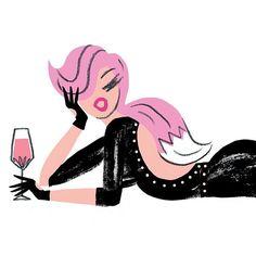Pink fox #thefashionablecocktail #fashionillustration #illustration #illustrator  #pink #cocktail #weekendvibes #tgif #nerylwalker #fashionillustrator