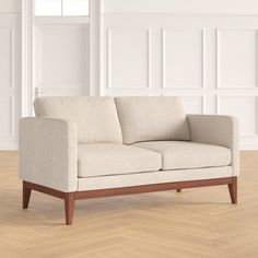 Joss And Main, Clean Design, Seat Cushions, Small Spaces, Love Seat, Upholstery, Couch, Interior Design, Living Room