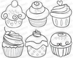 Resultado de imagen para un cupcake para colorear facil
