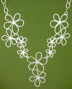 Daisy Garden Necklace: Handmade