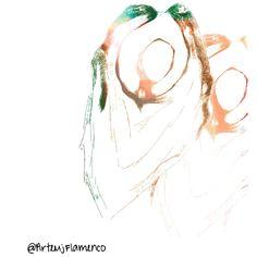Por guajiras  #Arte #Flamenco # arteMjFlamenco #scketch #illustration #Art Illustration, Illustrations