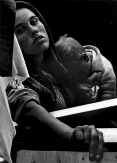 Just poverty is not envied by anyone ____ Beggar Woman and Child, Estoril, 1951 by Gordon Parks