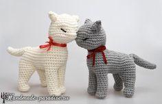 Cat Amigurumi - Free Russian Pattern here: http://handmade-paradise.ru/koshka-amigurumi-opisanie-vyazaniya-kryuchkom/