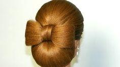 Hair bow tutorial. Hairstyle for long hair