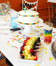 Rainbow Art Party. This is a neat idea for a party. We usually have little parties throughout the year for our kids. this is one they would love. ART PARTY